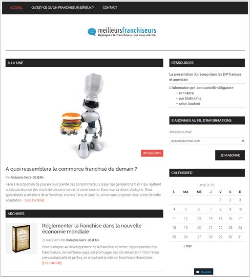 Exemple de site (blog professionnel)