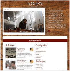 Exemple de site religieux catholique