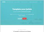 Template pour créer un site de juriste / avocat