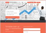 Template pour créer un site de start-up / jeune entreprise innovante