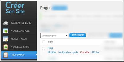 Modifier une page web