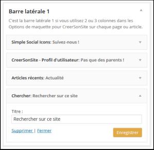 exemple de Widget WordPress