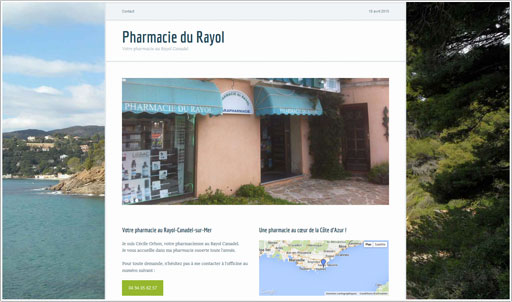 Exemple de site internet de pharmacie