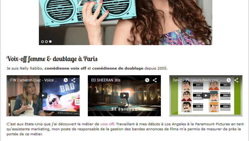 Un exemple de site web professionnel