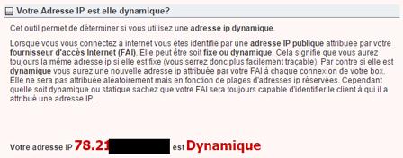 Adresse IP fixe ou dynamique ?