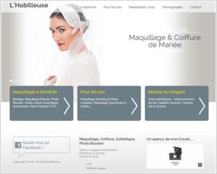 Exemple de site de maquilleuse professionnelle