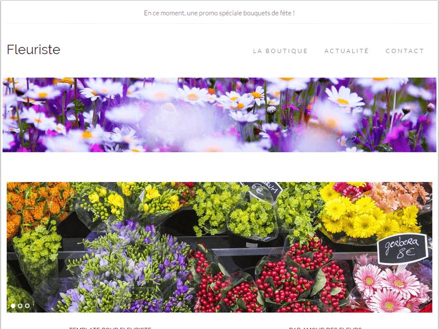 Template fleuriste mod le de site pour fleuriste cr er for Site fleuriste