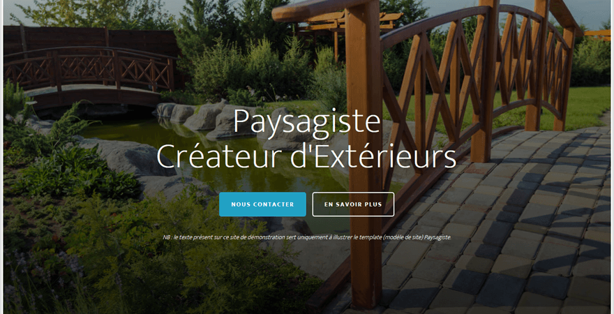 Template paysagiste mod le de site pour architecte for Site de paysagiste